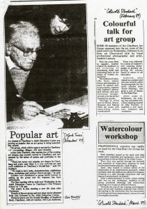 Newspaper cuttings from 1988/89