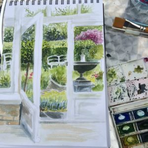 painting outdoors 5 29 June
