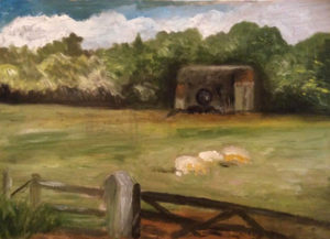 painting at Banbury Hill Farm