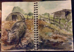 sketch at Banbury Hill Farm